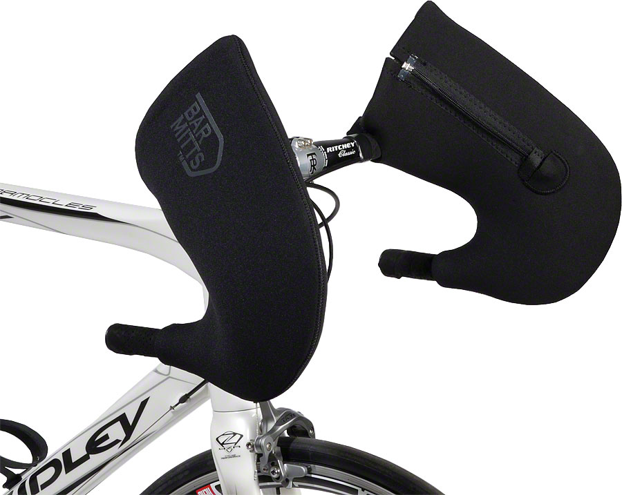 Externally Routed Shimano, Bar Mitts Dual Position Road Pogie Handlebar Mittens